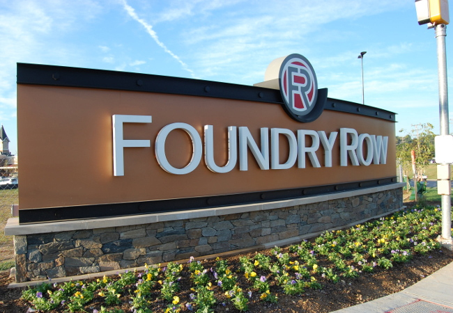 Foundry row building entry sign