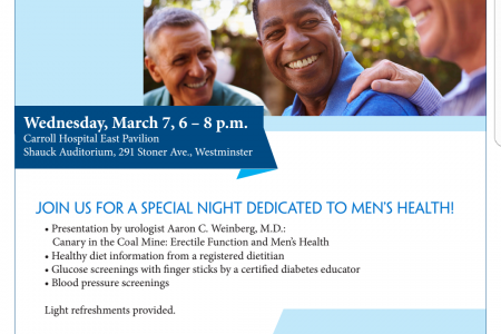 Chesapeake Urology at Carroll Hospital-Men's Health Night